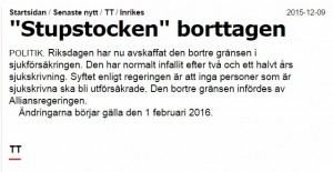 Aftonbladets lilla notis.