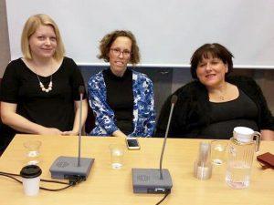 Från vänster: Ina Hallström, Christine Bylund och Veronica Kallander. Foto: Conny Kallander