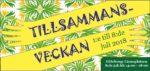 Tillsammansdagen i Slottsskogen, Göteborg.  8/7 - 18