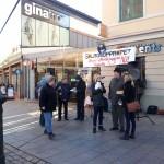 Ett kallt torgmöte i Linköping